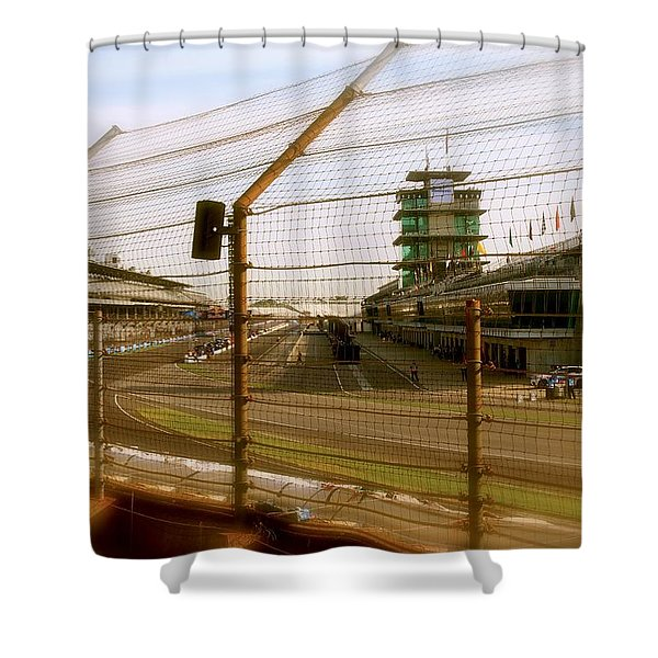 Start Finish Indianapolis Motor Speedway Shower Curtain