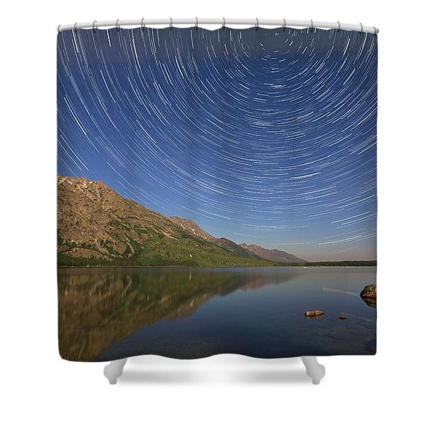 Startrails Over Jenny Lake Shower Curtain