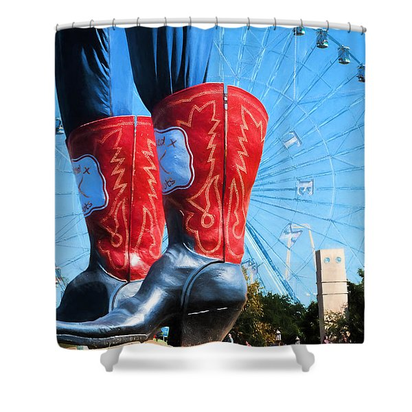 State Fair Of Texas Icons Shower Curtain