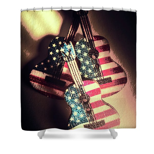 State Of Rock And Rock Shower Curtain