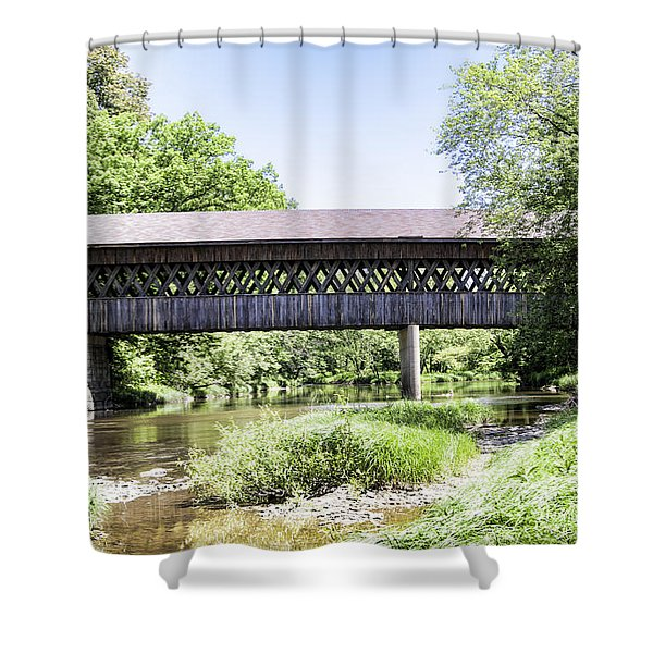 State Road Covered Bridge No.2 Shower Curtain