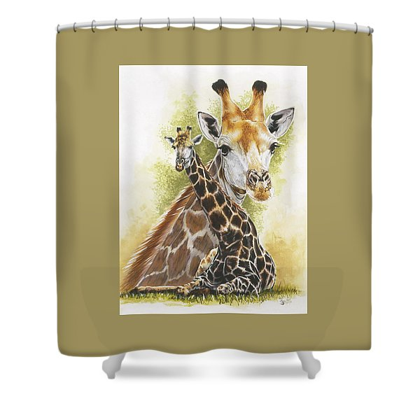 Shower Curtain featuring the mixed media Stateliness by Barbara Keith