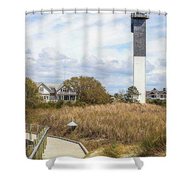 Station 18 On Sullivan's Island, Sc Shower Curtain