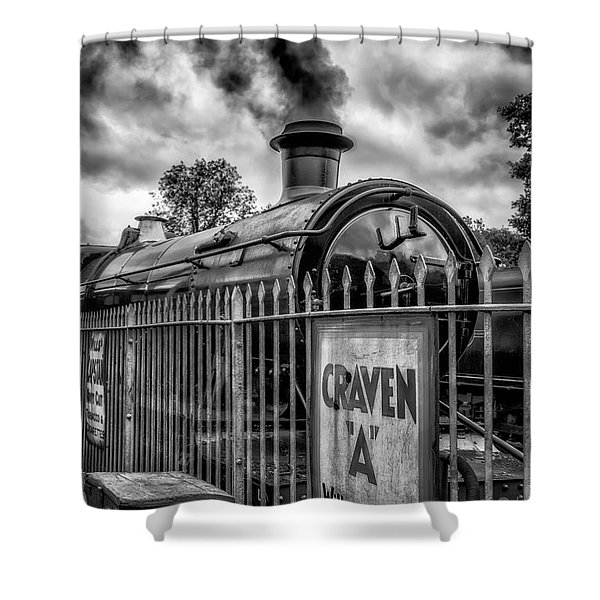 Station Sign Shower Curtain