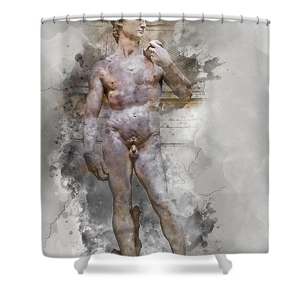 Statue Of David Shower Curtain