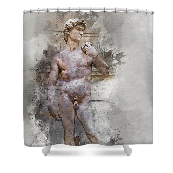 Statue Of David Shower Curtain