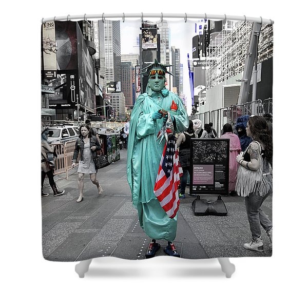 Statue Of Liberty Guy Shower Curtain