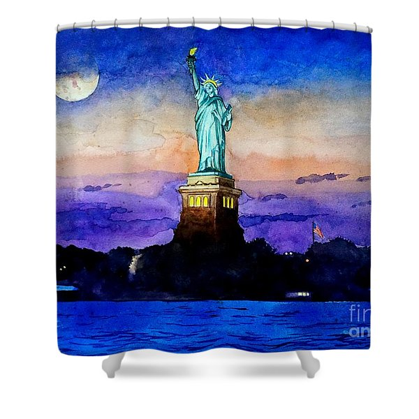 Statue Of Liberty New York Shower Curtain