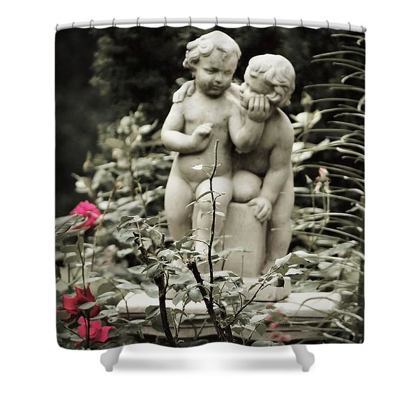 Statue Of Love Shower Curtain