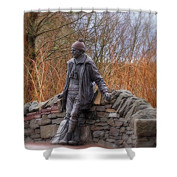 Statue Of Tom Weir Shower Curtain