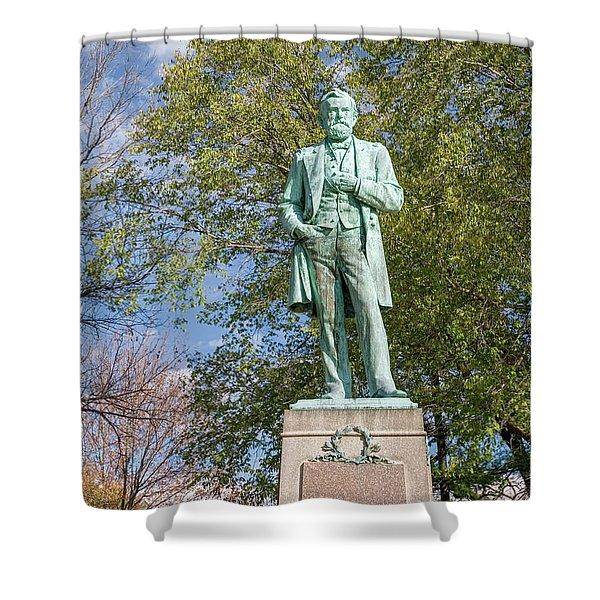 Statue Of Ulysses S. Grant Galena Illinois Usa Shower Curtain