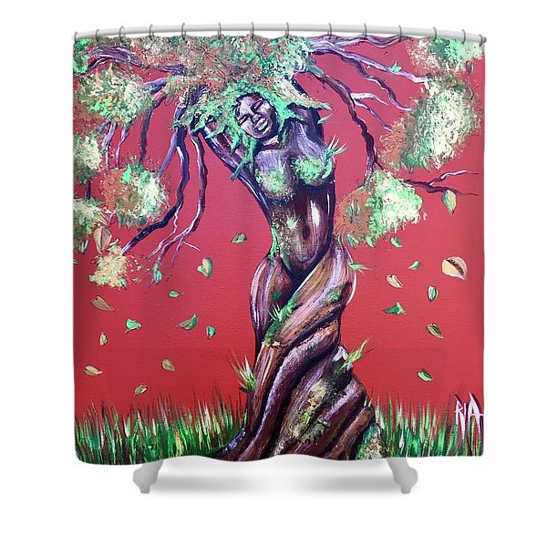 Stay Rooted- Stay Grounded Shower Curtain