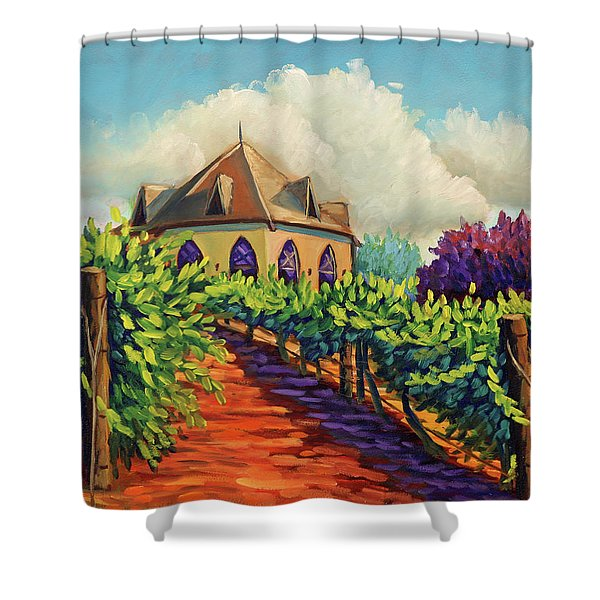 Ste Chappelle Winery Shower Curtain