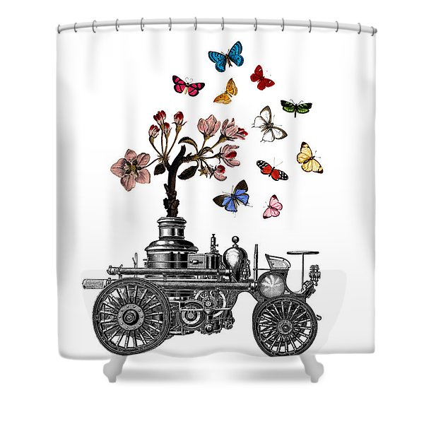 Steam Engine Of Life Shower Curtain