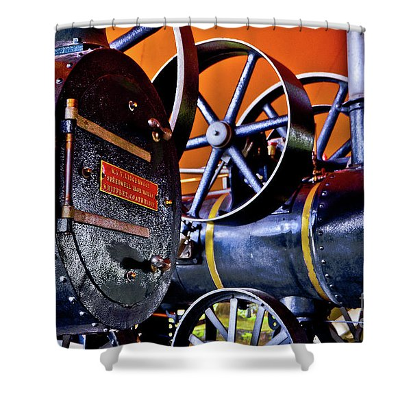 Steam Engines - Locomobiles Shower Curtain