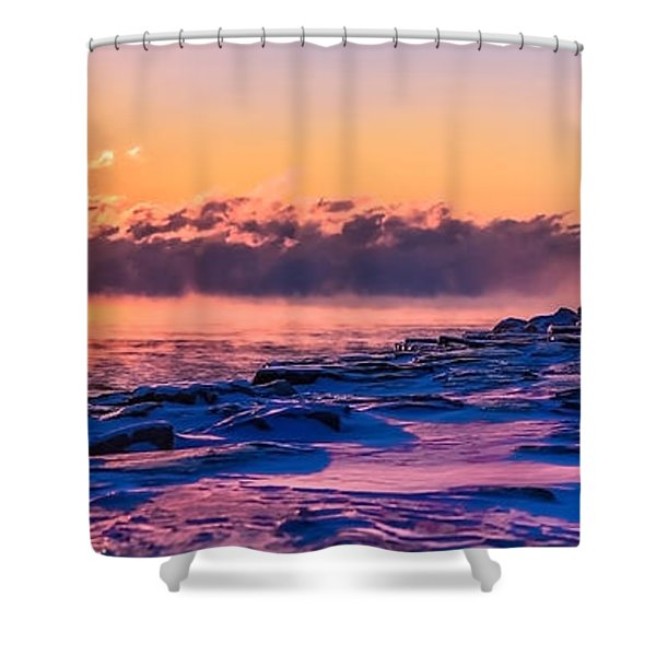 Steam Fog Two Panorama Shower Curtain