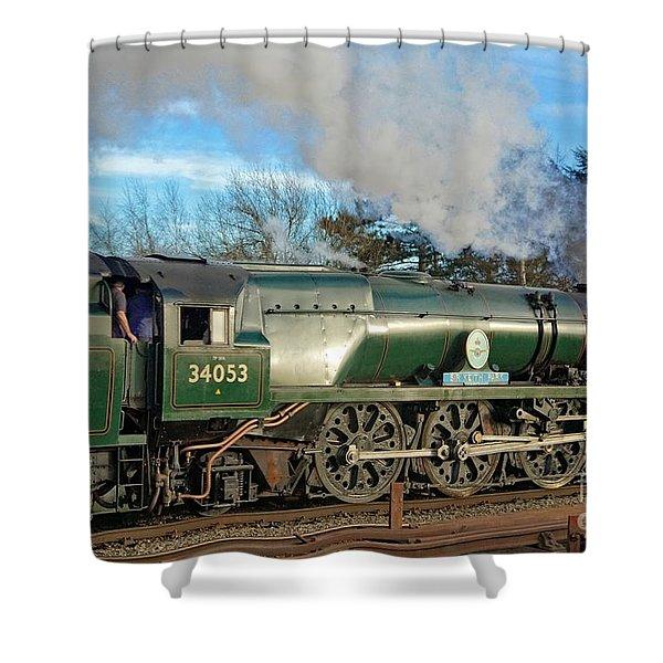 Steam Locomotive Elegance Shower Curtain