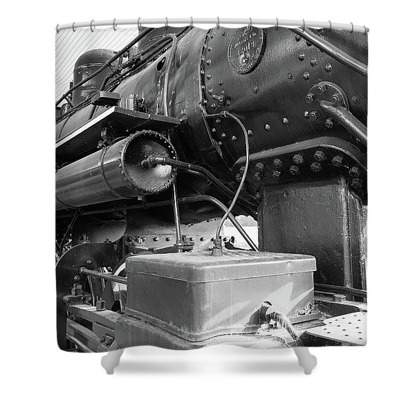 Steam Locomotive Side View Shower Curtain