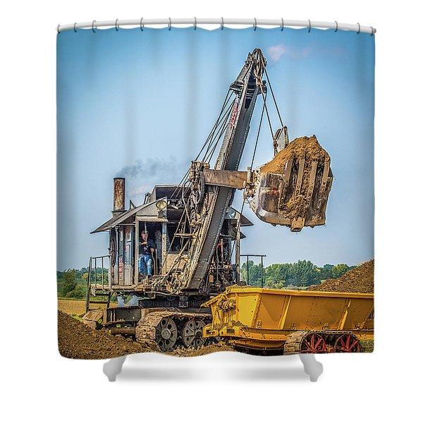 Steam Powered Shovel Shower Curtain