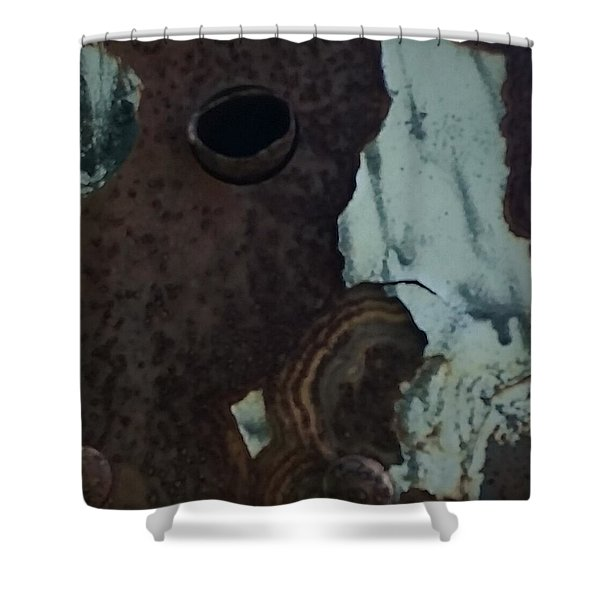 Rusted Away Shower Curtain