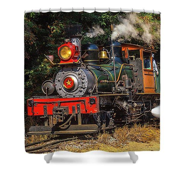 Steam Train Dixiana Shower Curtain