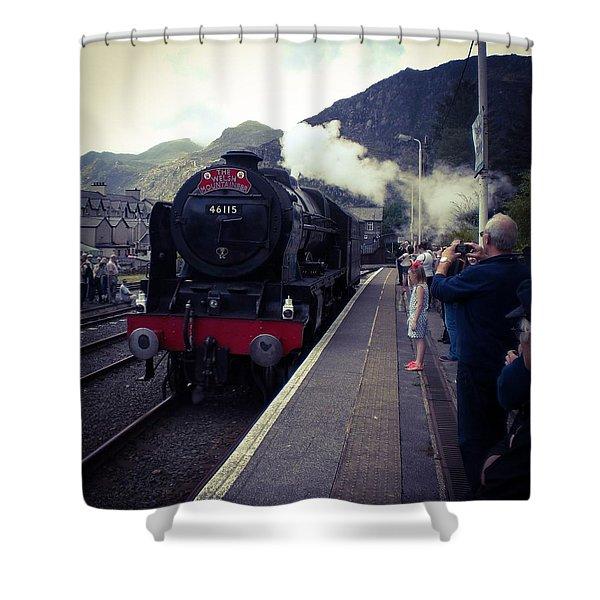 Steam Train, Ffestiniog, North Wales Shower Curtain