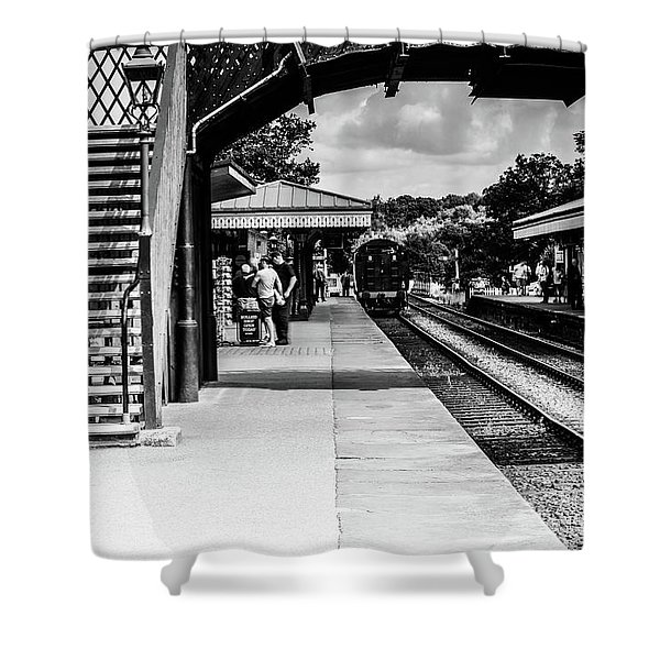 Steam Train In The Station Shower Curtain