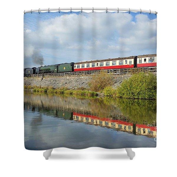 Steam Train Reflections Shower Curtain