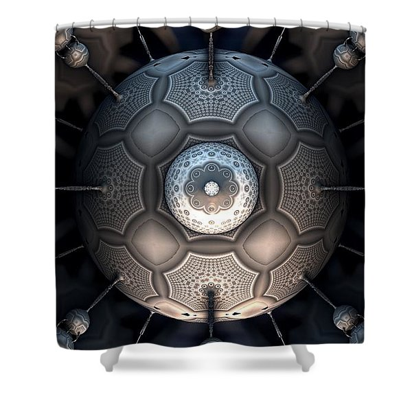 Steamball Interior Shot Plate 1a Shower Curtain