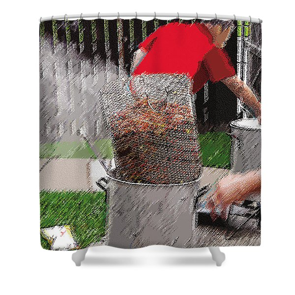 Steaming Mud Bugs For Falvor Shower Curtain