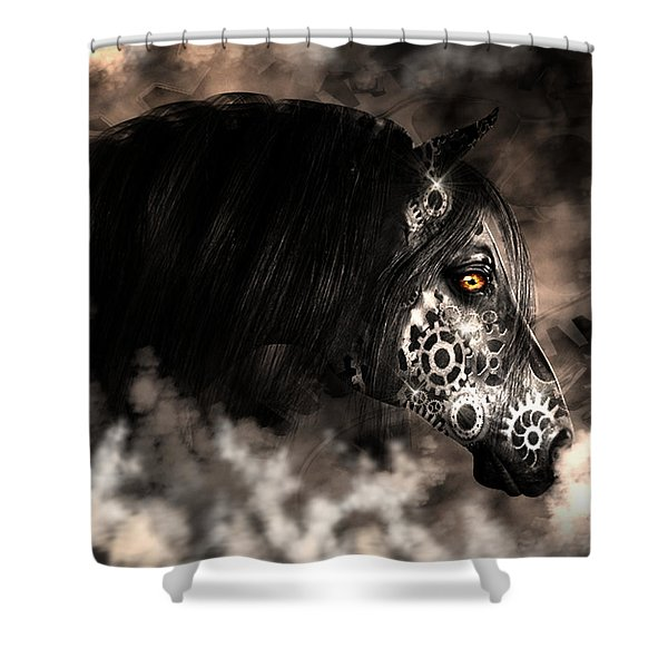 Steampunk Champion Shower Curtain