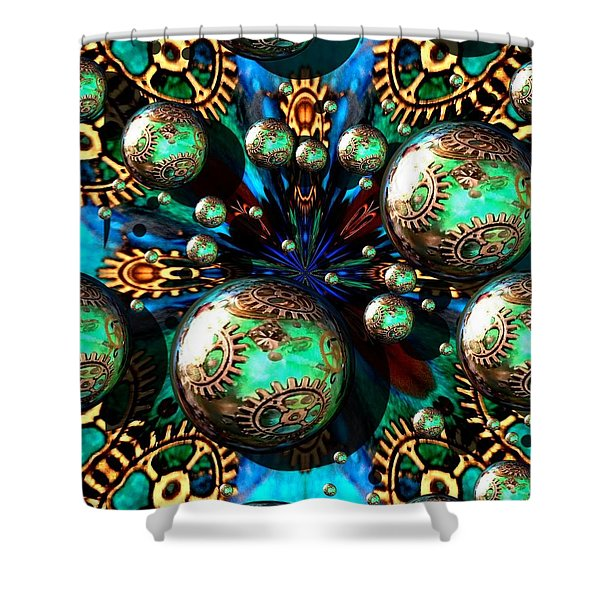Steampunk Fractal 71216.4 Shower Curtain