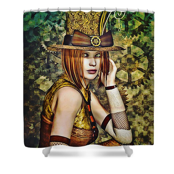 Steampunk Girl Two Shower Curtain