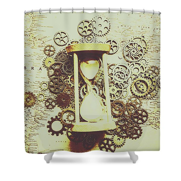 Steampunk Time Shower Curtain