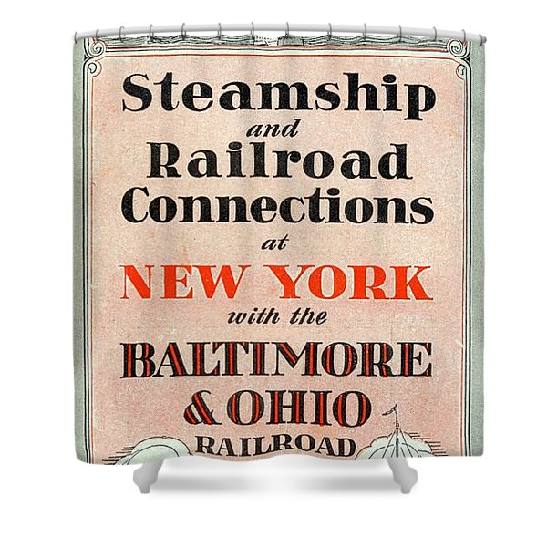 Steamship And Railroad Connections At New York Shower Curtain