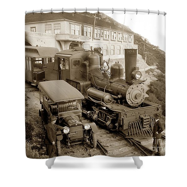 Stean Engine No. 8 Mount Tamalpais Circa 1920 Shower Curtain