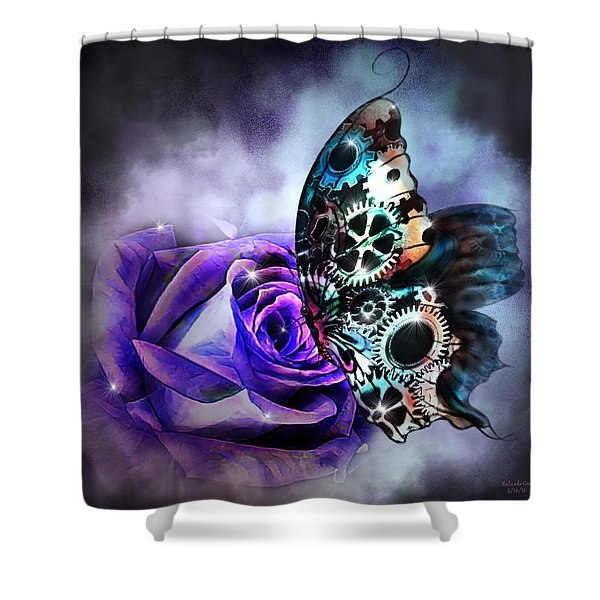 Steel Butterfly Shower Curtain