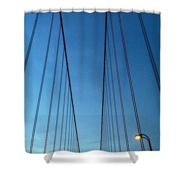 Golden Gate Bridge Cables Shower Curtain