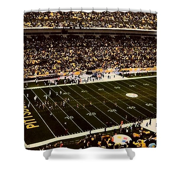 Steelers Game Shower Curtain