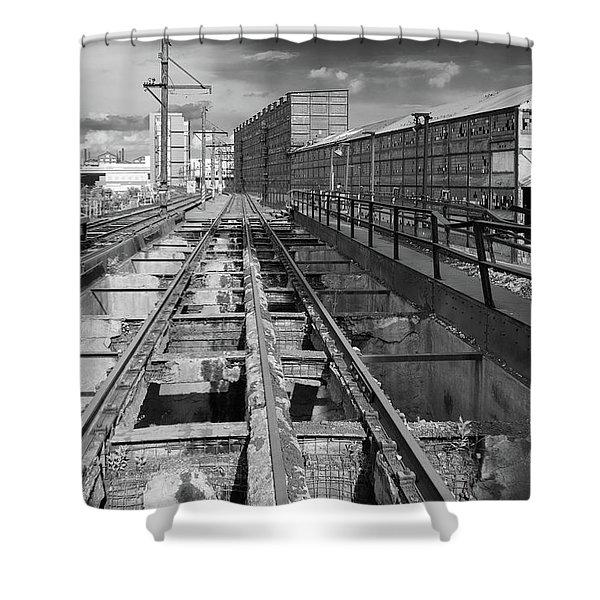 Steelyard Tracks 1 Shower Curtain