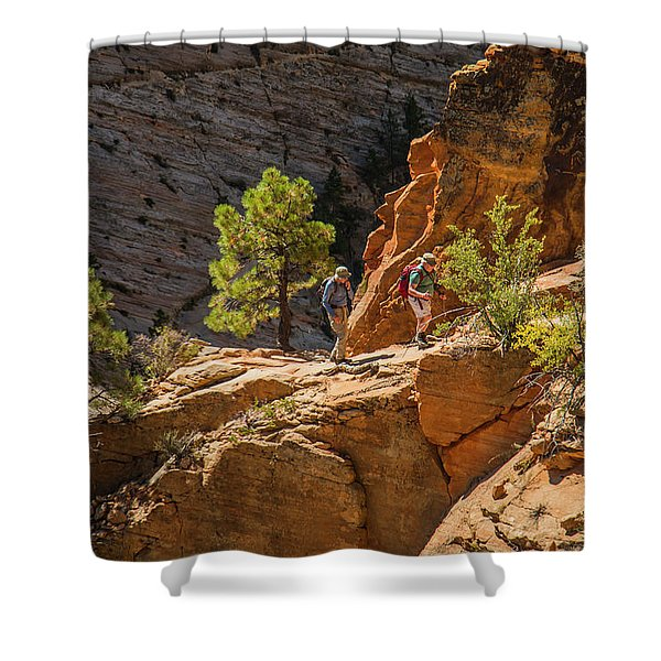 Steeply Up The Canyon Shower Curtain