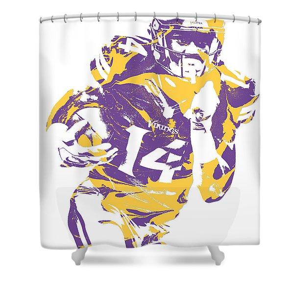 Stefon Diggs Minnesota Vikings Pixel Art 2 Shower Curtain