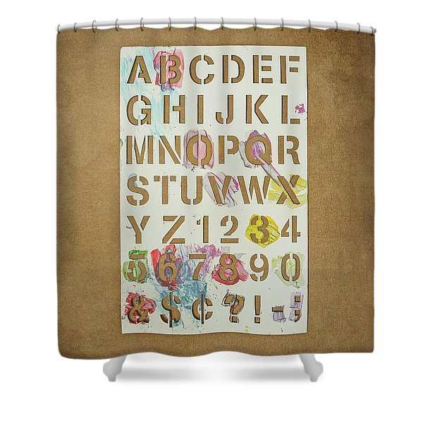 Stencil Alphabet Fun Shower Curtain