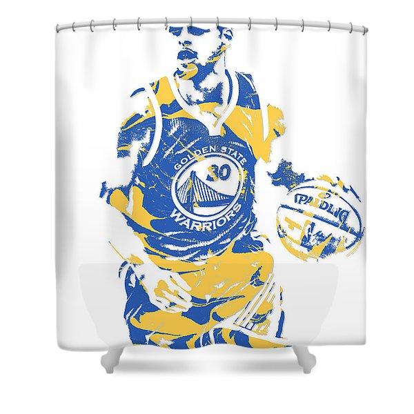 Stephen Curry Golden State Warriors Pixel Art 21 Shower Curtain