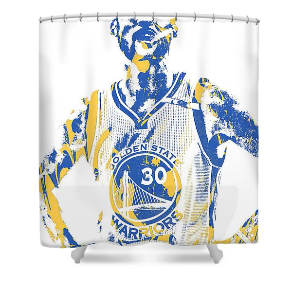 Stephen Curry Golden State Warriors Pixel Art 31 Shower Curtain