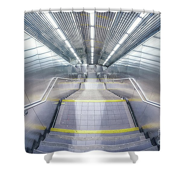 Stepping Down To The Underground Shower Curtain