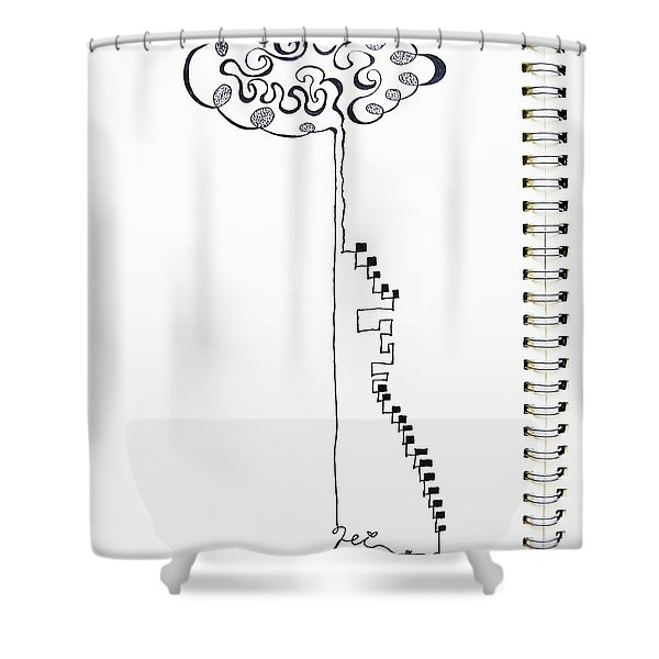 Steps To The Clouds Shower Curtain