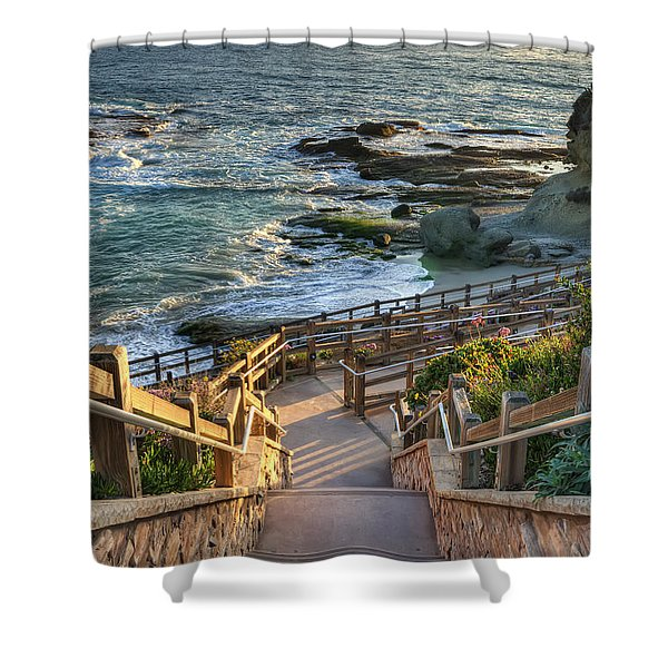 Steps To Treasure Island Beach Shower Curtain
