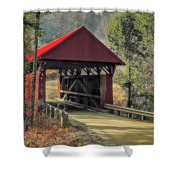 Sterling Covered Bridge Shower Curtain