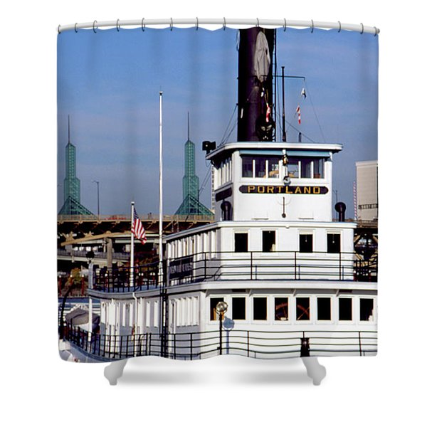 Sternwheeler, Portland Or  Shower Curtain